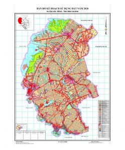 Bản đồ quy hoạch sử dụng đất huyện Dầu Tiếng Bình Dương