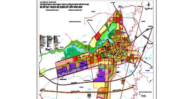 Bản đồ quy hoạch sử dụng đất thành phố Đồng Xoài Bình Phước