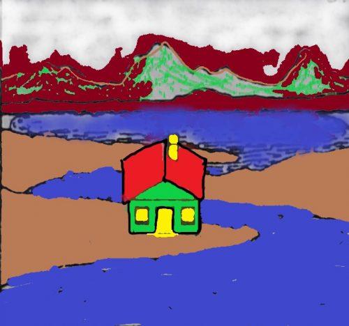 nhà gần bờ sông