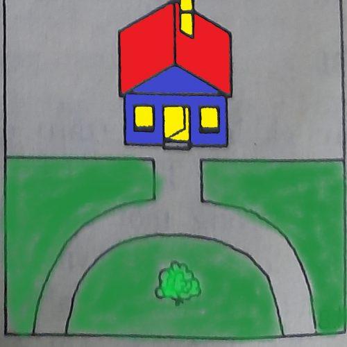 lối đi vòng cung trước nhà